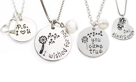 Someone Special Stamped Pendants from Stamp the Moment (1 or 4-Pack)