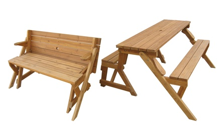 Merry Products Interchangeable Picnic Table and Garden Bench. Free Returns.