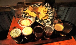 Constantine Brewing Company: Beer Flights, Snack, and Souvenir Pint Glasses for Two or Four at Constantine Brewing Company (Up to 51% Off)