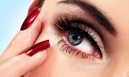Full Set of Mink Eyelash Extensions with Optional Touchup Application at Bahnosh Day Spa (Up to 75% Off)
