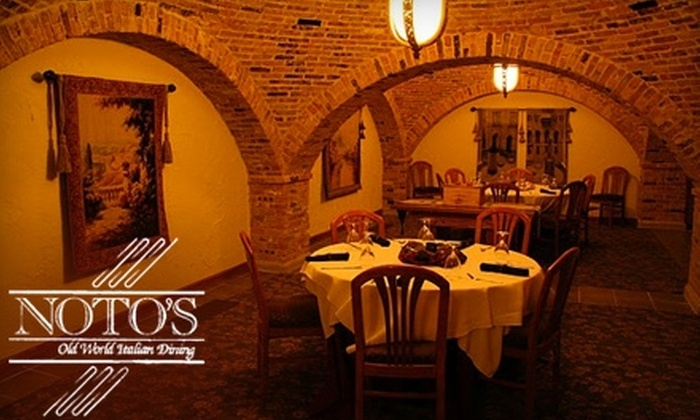 Noto's Old World Italian Dining - Cascade: $25 for $50 Worth of Fine Italian Cuisine and Wines at Noto's Old World Italian Dining