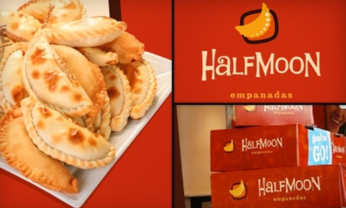 Half Moon Empanadas - Multiple Locations: $10 for a Dozen Empanadas at Half Moon Empanadas ($20 Value)