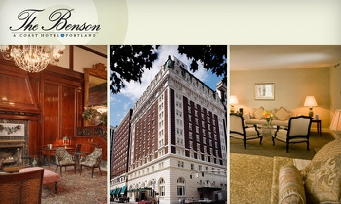 The Benson Hotel - Downtown: $124 for One-Night Stay in Junior Suite, Plus Overnight Valet Parking and $35 Toward Dining at the Benson Hotel ($323 Average Value)