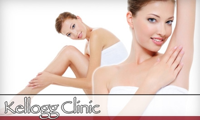 Kellogg Clinic - Multiple Locations: $99 for Three Laser Hair-Removal Treatments at Kellogg Clinic (Up to $450 Value)