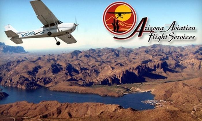 Arizona Aviation Flight Services - Mesa: $69 for a Scenic Flight from Arizona Aviation Flight Services (Up To $179 Value)
