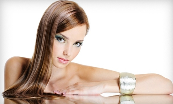 Salon Fantasy - Beresford Park: $114 for a Japanese Thermal-Hair-Straightening Treatment at Salon Fantasy in San Mateo (Up to $228 Value)