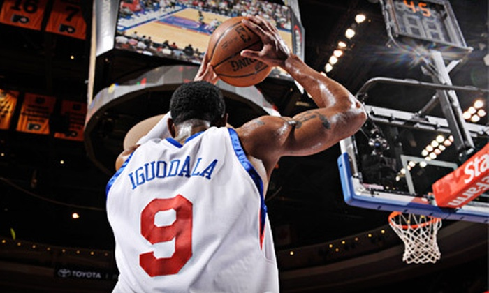 Philadelphia 76ers - South Philadelphia East: Outing to See the 76ers Play the Spurs at Wells Fargo Center on February 8 (Up to 51% Off). Three Options Available.