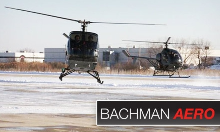 Bachman Aero - Schaumburg: $160 for One Helicopter Lesson or Ride at Bachman Aero in Schaumburg ($295 Value)