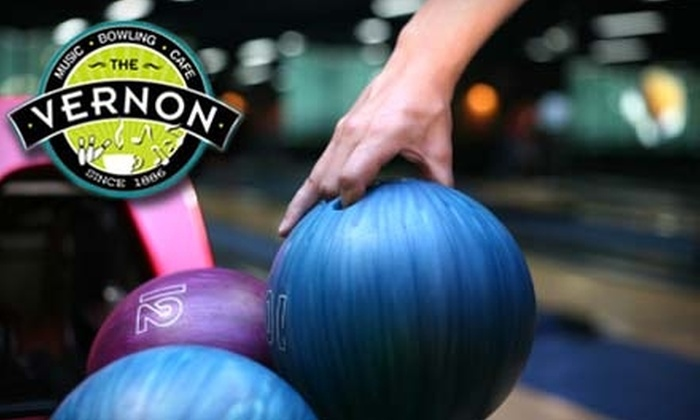 The Vernon Club - Butchertown: $19 for Two Games of Bowling Plus Shoe Rental for Four People, and One Large Pizza at The Vernon Club