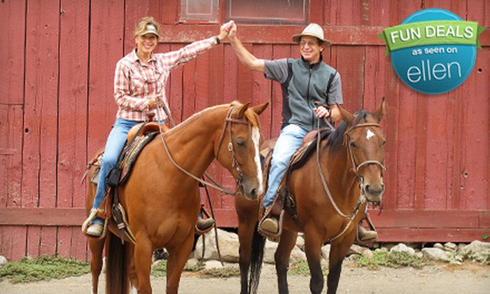 Cloverleaf Ranch - Santa Rosa: One-Hour Semiprivate Horseback-Riding Lesson for Two or Three Private Lessons at Cloverleaf Ranch (Up to 54% Off)