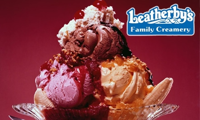 Leatherby's Family Creamery - Multiple Locations: $7 for $15 Worth of Sundaes and Sandwiches at Leatherby's Family Creamery