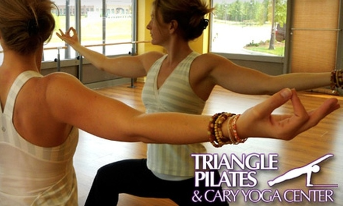 Triangle Pilates & Cary Yoga Center - Multiple Locations: $24 for Six-Class Punch Card to Triangle Pilates & Cary Yoga Center