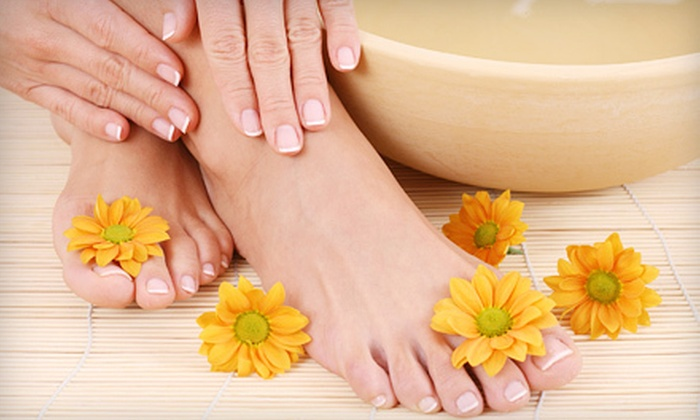 Tropical Medspa - Osceola County Complex: Shellac Manicure, Spa Pedicure, or Both at Tropical Medspa in Kissimmee (Up to 54% Off)