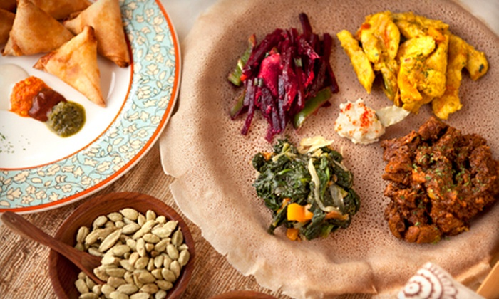 Demera Ethiopian Restaurant - Uptown: Ethiopian Meals at Demera Ethiopian Restaurant (Up to 51% Off). Five Options Available.