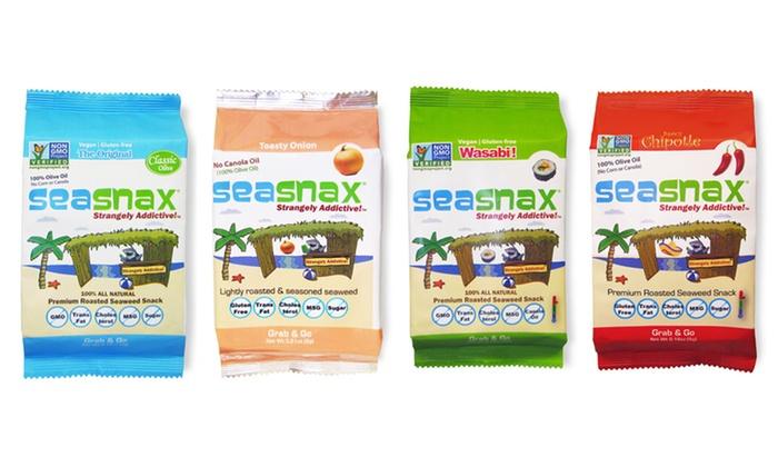 SeaSnax Seaweed Snack Bundle: SeaSnax Gluten-Free Seaweed Regular or Supersize Snack Bundles (Up to 48% Off). Free Shipping.