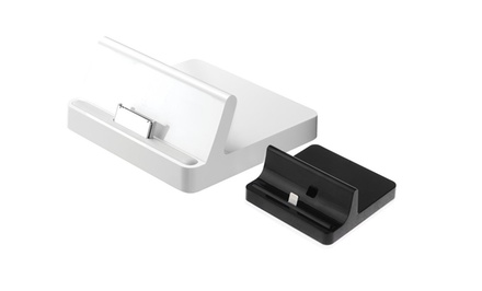 Apple-Certified 8- or 30-Pin Charge + Sync Dock in Black or White. Free Returns.