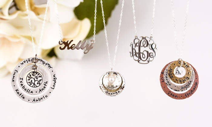 AJ's Collection: Personalized Jewelry from AJ's Collection (55% Off). Three Options Available.
