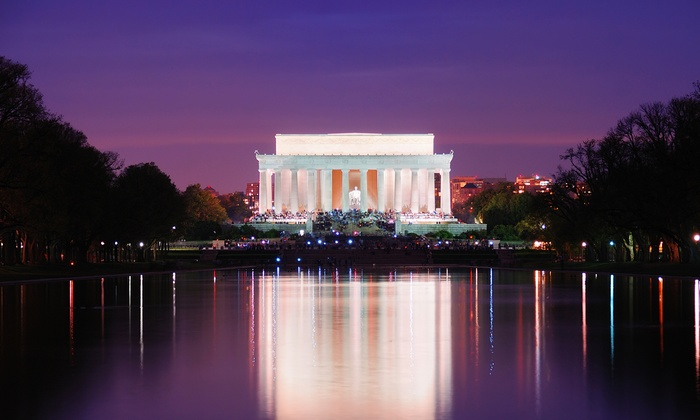 Chariots For Hire - Ronald Reagan Building: Three-Hour DC at Night or American Spirit Monument Bus Tour for Two from Chariots for Hire (45% Off)