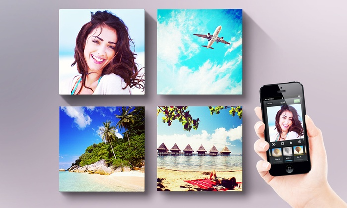 Printerpix: Custom Square Instagram Photo Canvas from Printerpix. Multiple Options from $5–$59.99