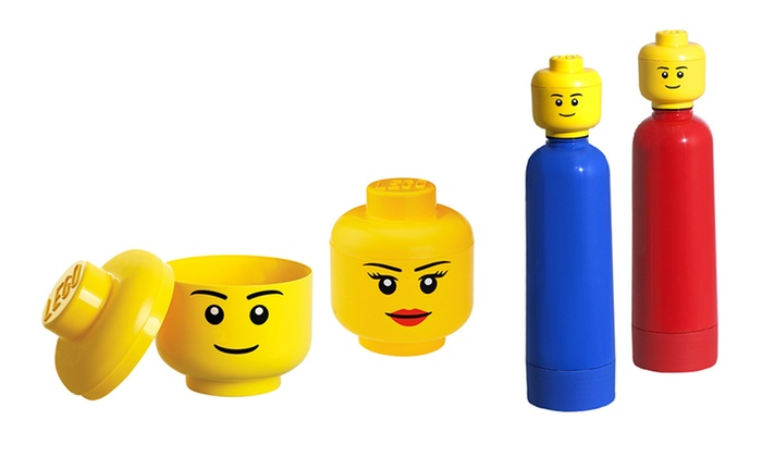 LEGO Storage Heads and Water Bottles ...  sc 1 st  Groupon & LEGO Storage Heads and Bottles | Groupon Goods