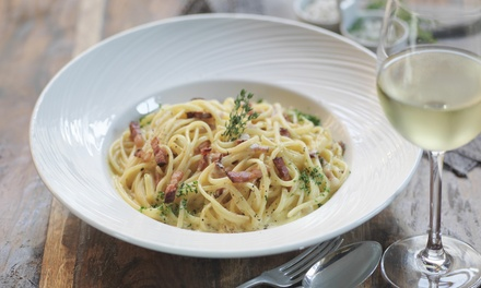 ThreeCourse Italian Lunch or Dinner with Wine for Two $49 or Four People $95 at FBI Up to $170 Value