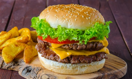 Burgers with Seasoned Wedges and Crisp Salad for Two or Four at SJ at Snooks Steakhouse (Up to 50% Off)