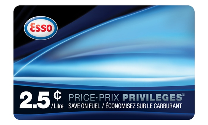 Esso: C$35 for One PRICE PRIVILEGES Fuel Savings Card from Esso (Up to C$50)