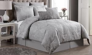 Rennes Bubble Jacquard Comforter Set (8-Piece)