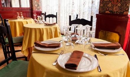 Menú para dos personas con entrante, principal, bebida y postre o café desde 39,90 € en El Viejo León