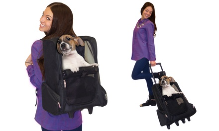 Unique Petz 4-in-1 Roll-Around Pet Travel Carrier