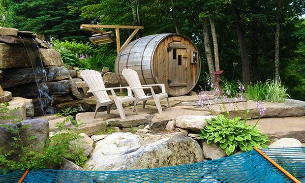 spa nordique pour 4. Black Bedroom Furniture Sets. Home Design Ideas