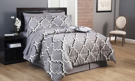 8-Piece Contemporary Bedding Sets with Sheets (Full)