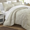 Vaness Pinch-Pleat Pin-Tuck Duvet Cover and Shams Set (3-Piece)