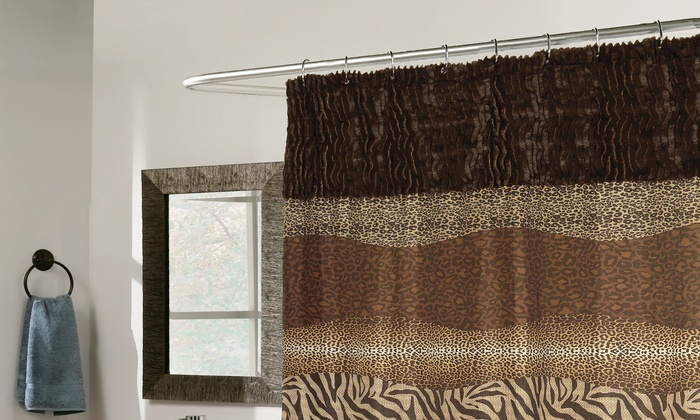 Faux-Fur 15-Piece Bath Ensemble | Groupon Goods