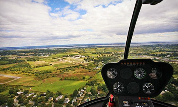 Bird's Eye View Helicopters - Middletown: Fall-Foliage Helicopter Tour for Three, Valid on a Weekday or Weekend from Bird's Eye View Helicopters (Up to 43% Off)