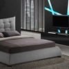 Platform Bed and Tufted Headboard