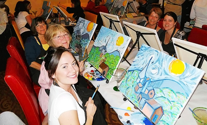 Wine and Painting Class for One or Two at Wine And Canvas Baltimore (Up to 51% Off)