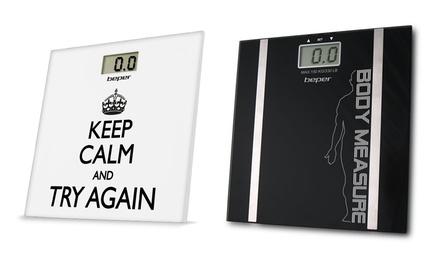 Beper Body Analysis or Keep Calm Digital Weighing Scale