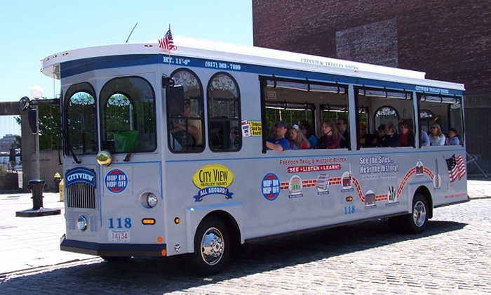 Cityview Trolley Tours - Boston: Trolley Tour and Harbor Cruise for One, Two, or Four from CityView Trolley Tours (Up to 54% Off)
