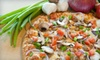 Straw Hat Pizza - Morrill: One Large Pizza with an Appetizer or One Large Pizza with Beer & Wings at Straw Hat Pizza in Milpitas (Up to 52% Off)