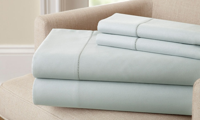 400 Thread Count 100% Egyptian Cotton Bed Sheet Set (Queen Size)