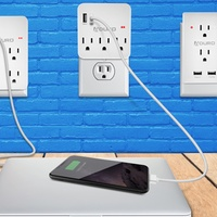Deals on Aduro 2-, 3-, 4-, or 6-Outlet Surge Protector w/Dual USB Ports