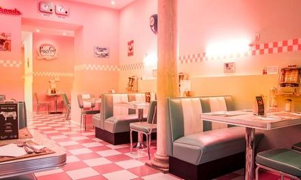 Menú básico o premium para 2 con combo de entrantes, principal, postre y bebida desde 19,95 € en Peggy Sue's