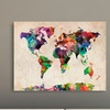 """24""""x18"""" Map Art Prints on Rolled Canvas"""
