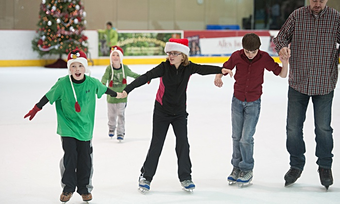 Allen Community Ice Rink - Allen: Holiday Open Skate for Two or Four or Intro to Skating Camp for One at Allen Community Ice Rink (Up to 50% Off)