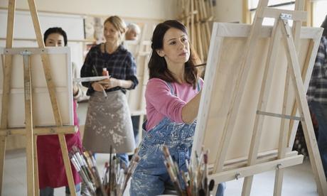 3,5 Std. Malkurs inkl. Materialien für 1 oder 2 Personen im Atelier by Maryna Zaitseva
