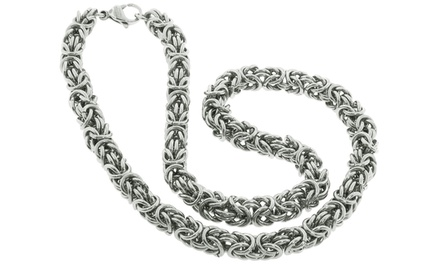 Byzantine Chain Necklace in Stainless Steel