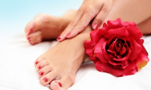 Aisha Beauty Salon & Day Spa: One or Two The Works Mani-Pedis at Aisha Beauty Salon & Day Spa (Up to 54% Off)