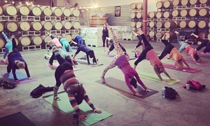 Mettamade: Vino Vinyasa Yoga and Wine-Tasting Experience for One or Two from Mettamade (Up to 50% Off)