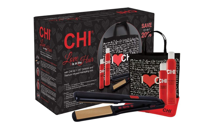 Chi G2 1 25 Quot Flat Iron With Free Hair Sprays And Bag Groupon